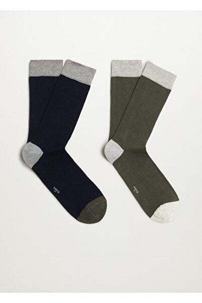 MANGO Man 2'li Desensiz Çorap