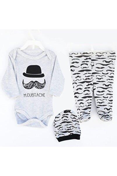 bebegen Moustache Grili Bıyıklı Şapkalı 2'li Takım