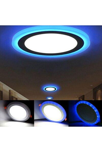 MASEL Dekoratif Üç Renkli Led Panel Led Panel Sıvaüstü 27cm Çaplı Tavan Armatür Yüksek Işık Güçlü 18+6w