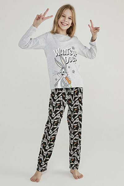 Penti Kız Çocuk Çok Renkli Teen Whats Up 2li Pijama Takımı