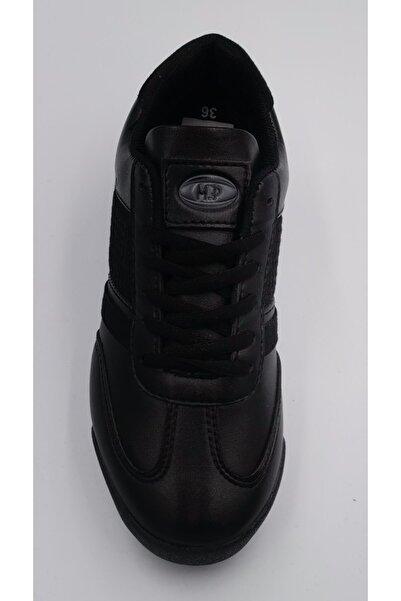 MP Unisex Siyah Spor Ayakkabı Suni Deri Orjinal Ayakkabı