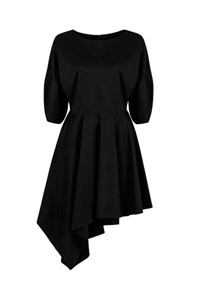 Nocturne Asimetrik Kesim Mini Elbise