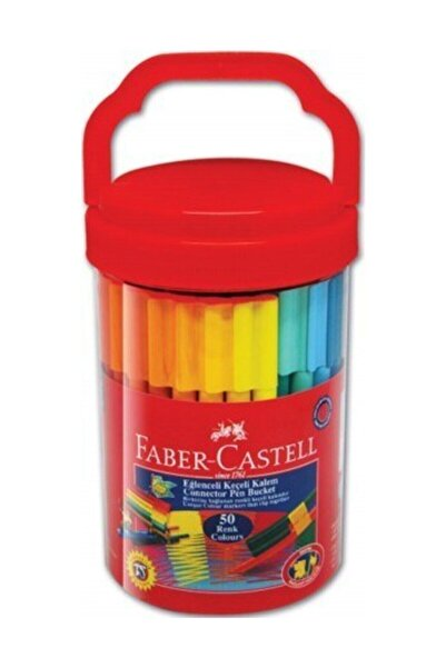 Faber Castell Faber-castell Eğlenceli Keçeli Kalem 50'li (5068111550)