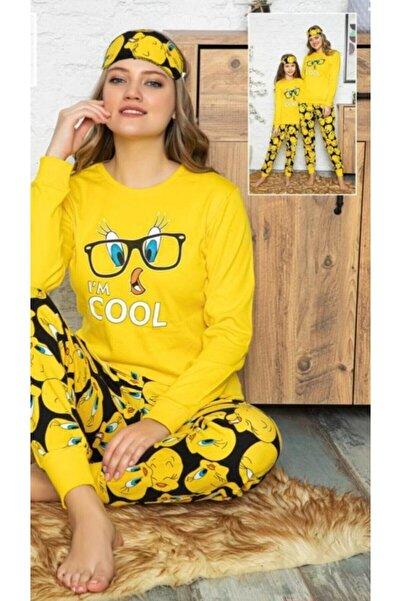 Manolya Kadın Kampanya Sarı Tweety Desenli Pijama