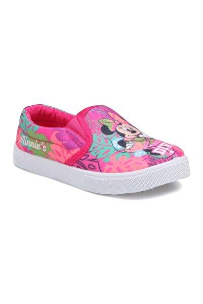 Mickey Mouse Kız Çocuk Pembe Minnie  Mouse Keten Sneaker Spor Ayakkabı