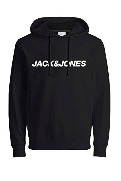 Jack & Jones JCOVIBE SWEAT HOOD KA Antrasit Erkek Sweatshirt 101016186