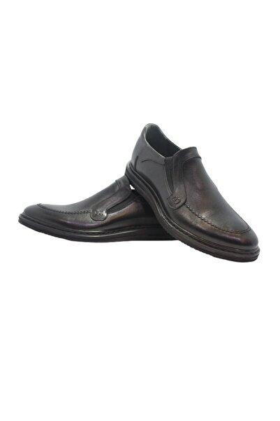 Elite Hakiki Deri Düz Siyah Ayakkabı
