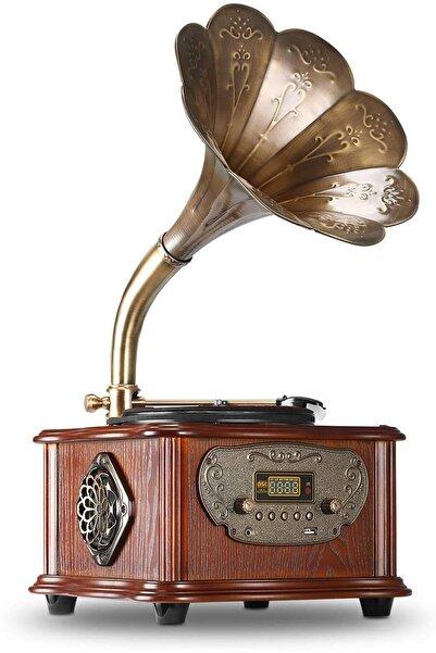 Record Master Rmj-209c Gramofon Pikap - Radyo - Bluetooth - Usb - 33, 45 Devir Plak Çalar