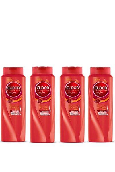 Elidor Renk Koruyucu Ve Canlandırıcı Saç Bakım Şampuanı 650 ml X 4 Set