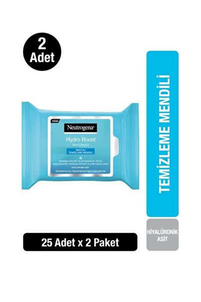 Neutrogena Hydro Boost Makyaj Temizleme Mendili x 2 Adet