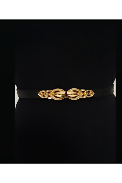 Kemerix Lastikli Gold Tokalı Kadın Kemer