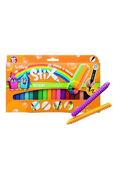 artline Stix Brush Marker 20'li set