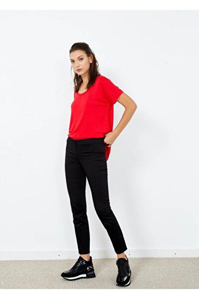 Adze Kadın Siyah Dar Paça Pantolon Siyah 40