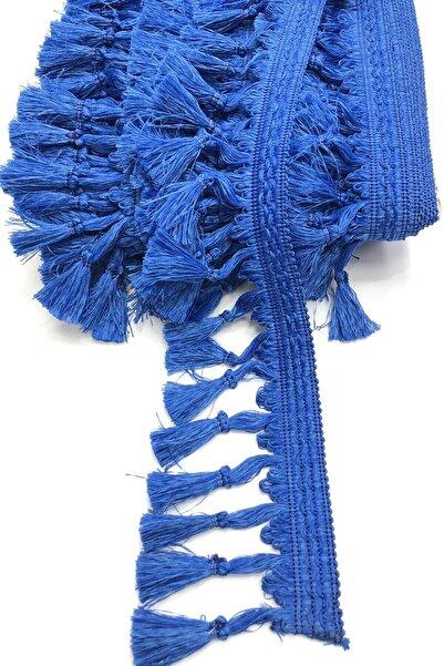 Hayalperest boncuk Saks Mavi Topuzlu Püskül Saçak 7cm 1 Mt