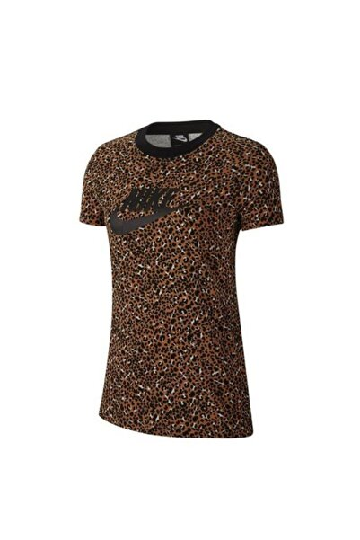 Nike Sportswear Cd4145-754 Animal Print Kadın Tişört