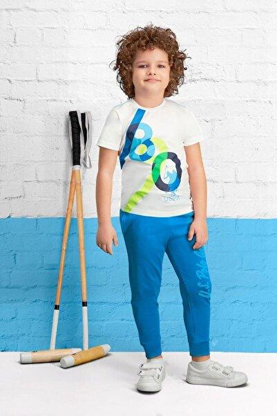 U.S. Polo Assn. Lisanslı Krem Erkek Çocuk Pijama Takımı
