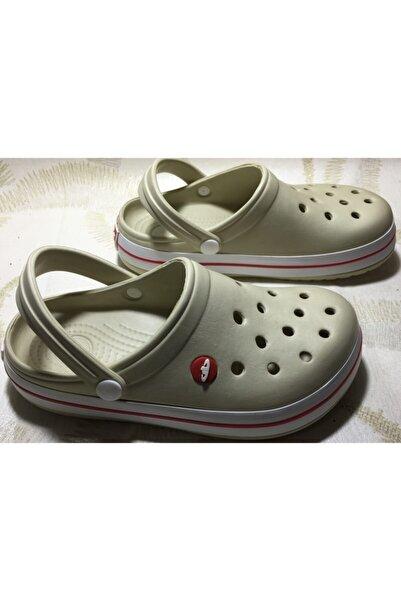 Akınal Bella Bej Beyaz Sandalet Terlik