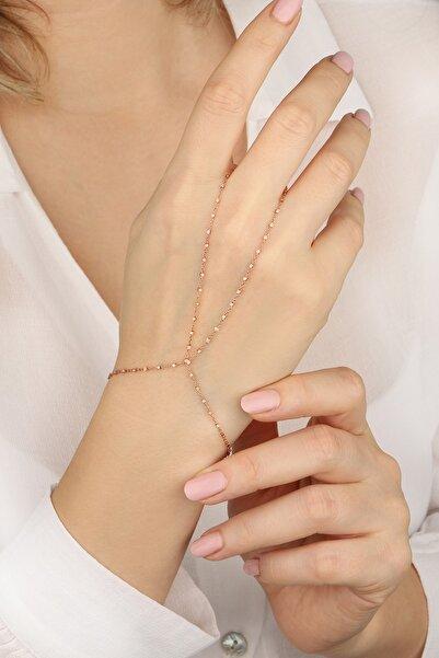 Lia Berto Kadın Rose Küp Zincir 925 Ayar Gümüş Şahmeran