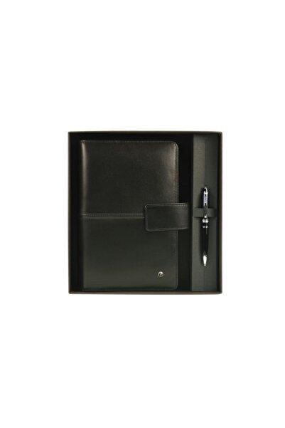 Scrikss Soft Deri Siyah Medium Ajanda Kutulu 20 X 14cm Dr3201-1