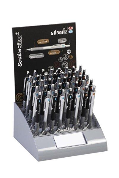 Scrikss Atlantis Versatil Kalem (mekanik Kurşun Kalem) 0.5mm + 0.7mm Karışık Renk (40 Lı Stand)