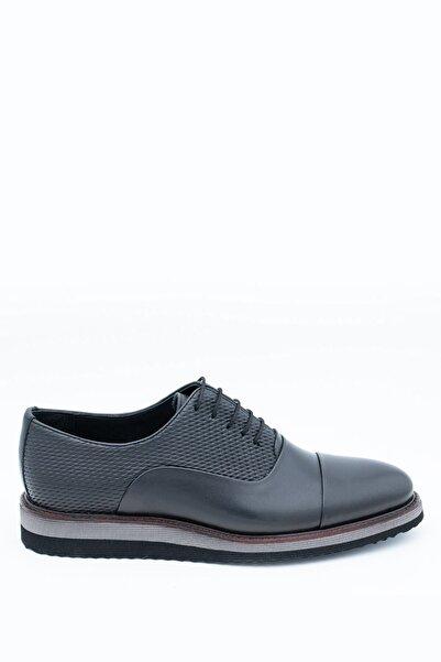 İgs Erkek Siyah Deri Günlük Ayakkabı I1711459-3 M 1000