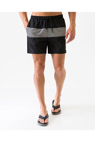 SKECHERS Swimwear M Colorblock Swimshort Erkek Siyah Şort S201169-001