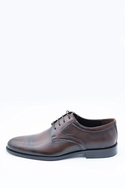 İgs Erkek Kahverengi Deri Klasik Ayakkabı 19523-1 M 1000