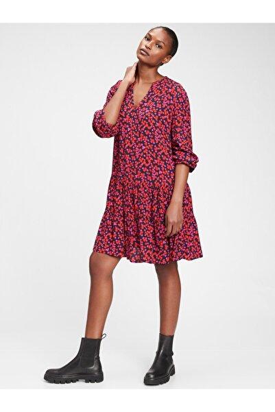 GAP Kadın Pembe Desenli Mini Elbise