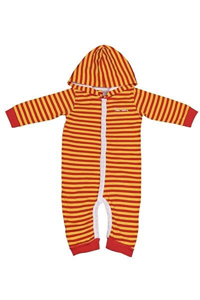 Pierre Cardin Baby Pierre Cardin Çizgili Taraftar Erkek Bebek Tulumu Sarı-kırmızı
