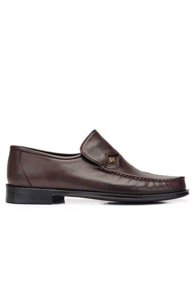Nevzat Onay Erkek Kahverengi Hakiki Deri Klasik Rok Kösele Ayakkabı -11483-
