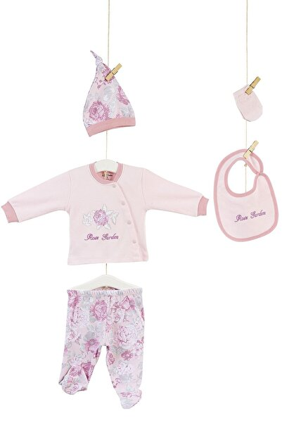 Aziz Bebe Kız Bebek Pembe Gül Bahçesi 5'li Hastane Çıkışı 5229