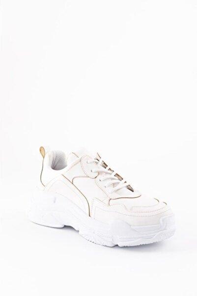 ESPARDİLE Kadın Beyaz Cilt Spor Ayakkabı
