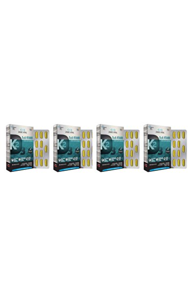 Zade Vital D3+k2 Vitamini 30 Kapsül 4'lü Paket