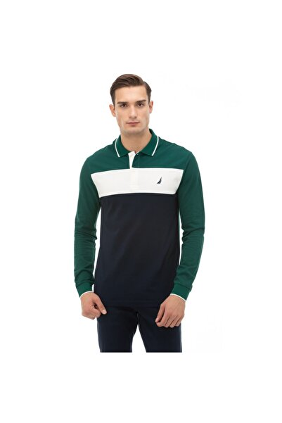 Nautica Erkek Yeşil Polo Yaka T-shirt