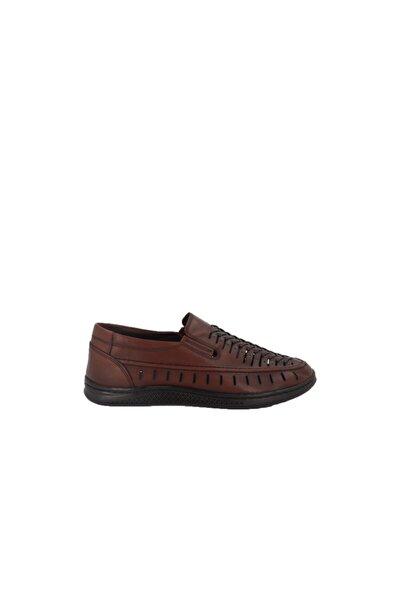 Hobby Taba Deri Yazlık Erkek Ayakkabı 3502
