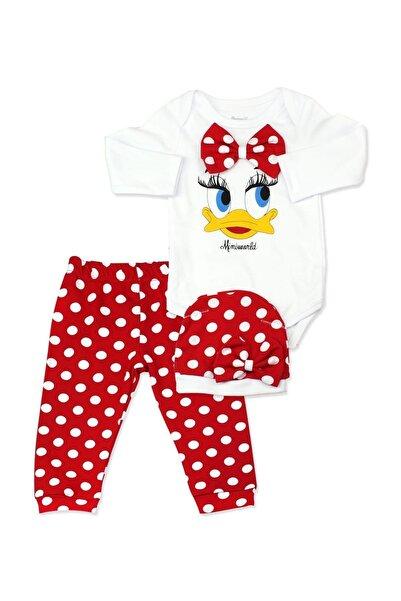 Miniworld Puanlı Kırmızı Ördekli Bebek Takımı K2233