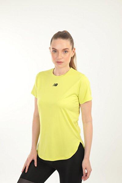 New Balance Neon Sarı Kadın T-shirt Wpt014-chg