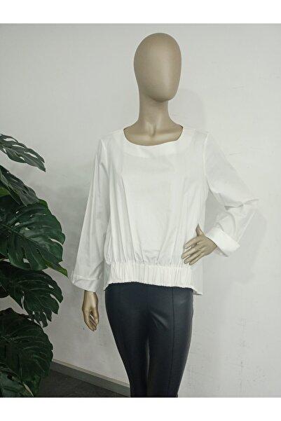 GİZİA Kadın Beyaz Düz Bluz