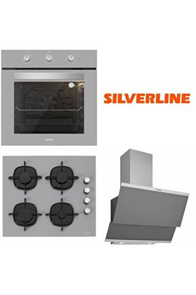 Silverline Bo6503s01 - Cs5335s01 - 3420 Classy 60 Gri Cam Ankastre Set