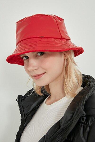 Y-London 13514 Rugan Kırmızı Bucket Şapka