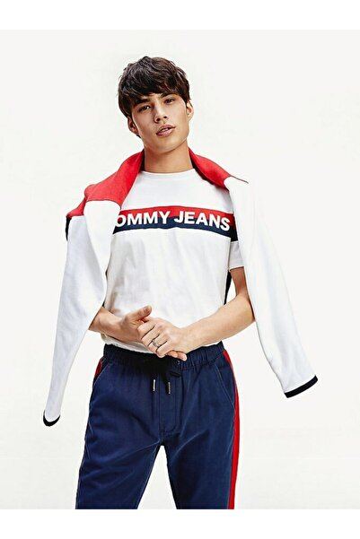Tommy Hilfiger Erkek Tj Çift Şeritli Logo T-shirt