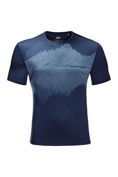 Jack Wolfskin Peak Graphic Tee Erkek T-shirt - 1807181-1024