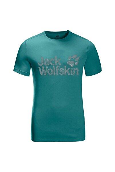 Jack Wolfskin Wolf Logo Erkek T-shirt - 5022191-4078