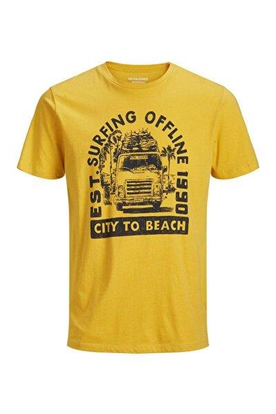 Jack & Jones Jack&jones Sunbaked Sarı Erkek Tişört 12153600