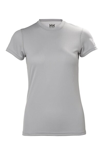 Helly Hansen W Techt Kadın T-shirt Açık Gri