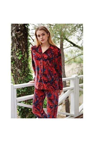 Penyemood Penye Mood 8403 Kadın Pijama Takımı Kiremit
