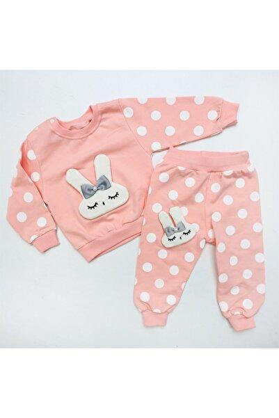 Bella Baby 2'li Puantiyeli Lüx Bebek Takım Pembe