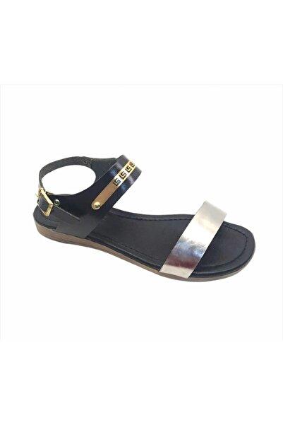 Sanbe 513 D 036 36-40 Deri Sandalet Siyah