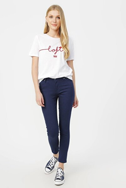 Loft Kadın Skinny Lacivert Pantolon Lf2023159