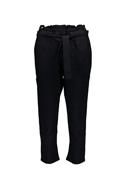 Collezione Sıyah Kadın Dokuma Basıc Pantolon